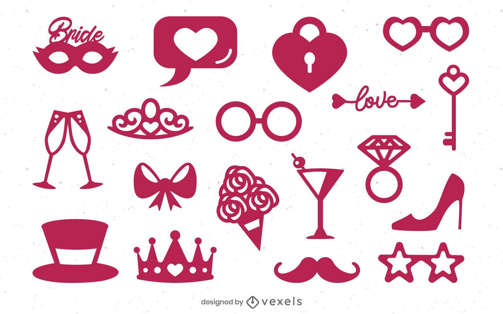 Bachelorette party elements set