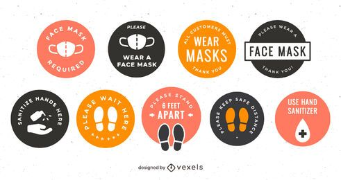 COVID-19 Round Badge Pack