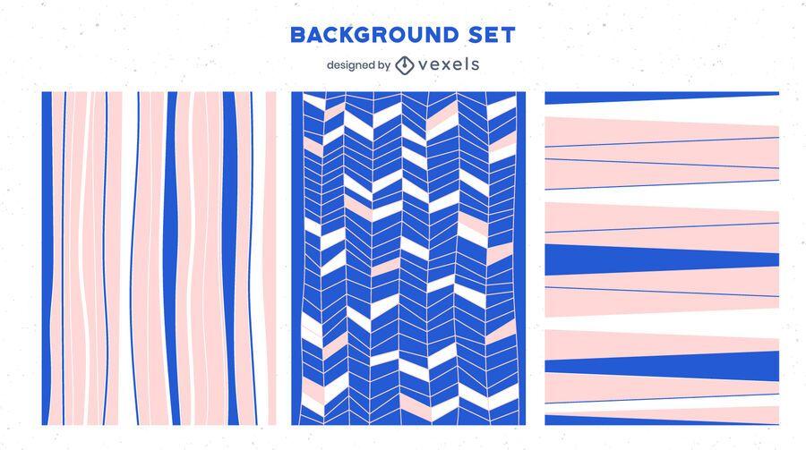 Pink blue background set