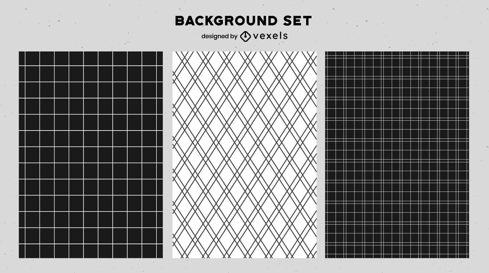 Black and white background set