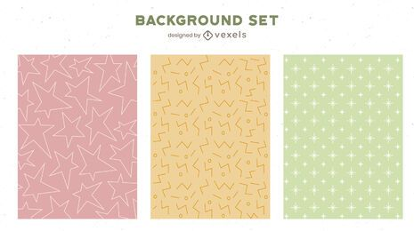 Light colored background set