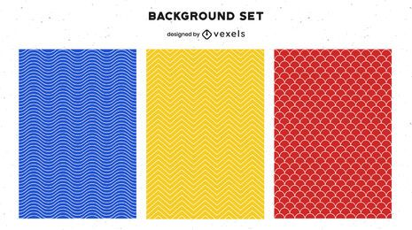 Geometric background set