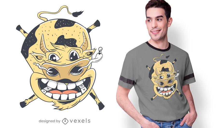 Flying Cow T-shirt Design