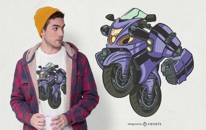 Diseño de camiseta de motocicleta transformadora