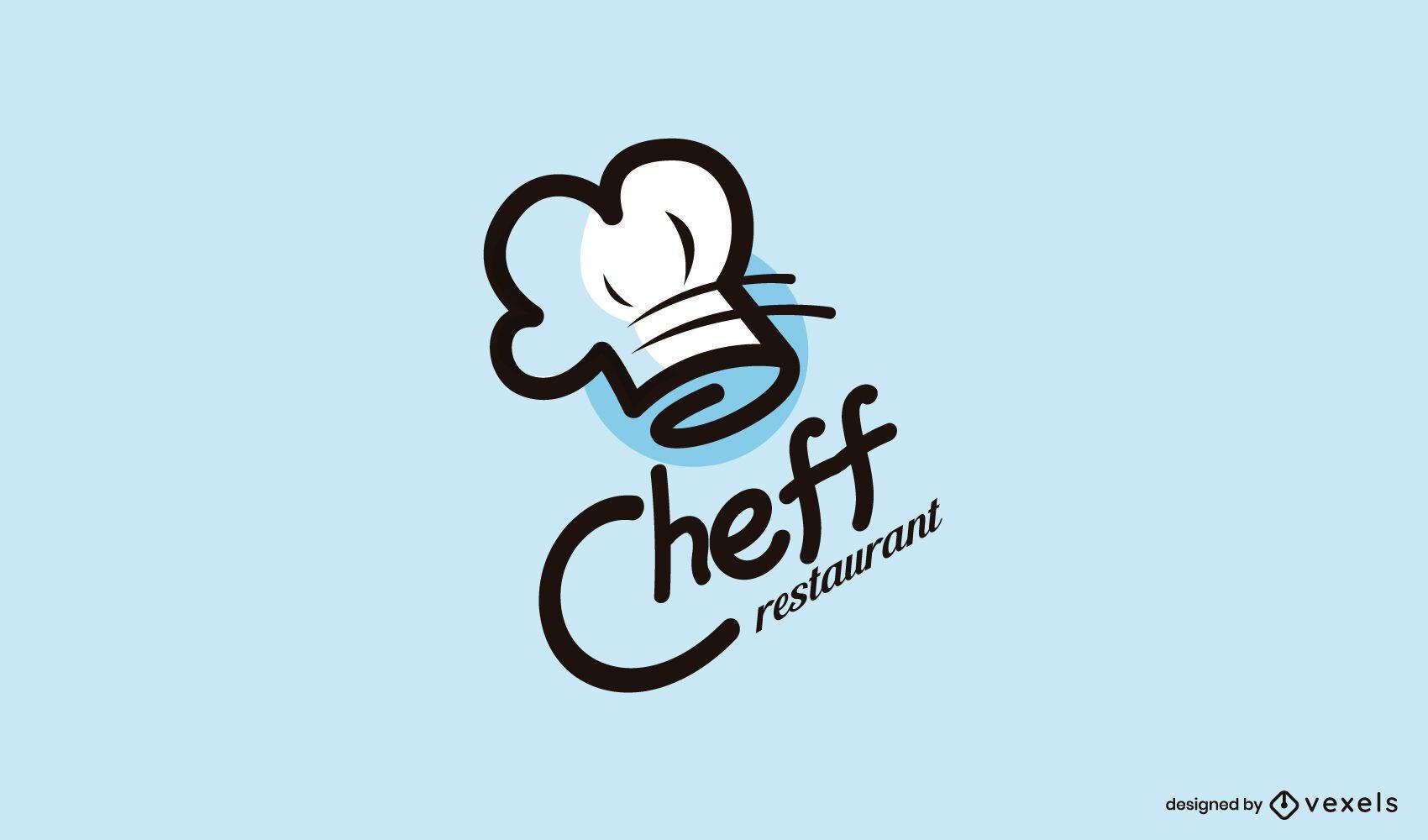 Design de logotipo do restaurante Cheff