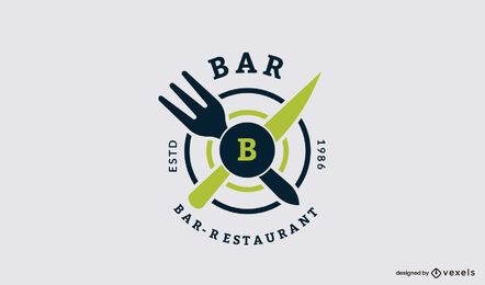 Design de logotipo de restaurante de bar