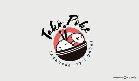 Modelo de logotipo de restaurante poke