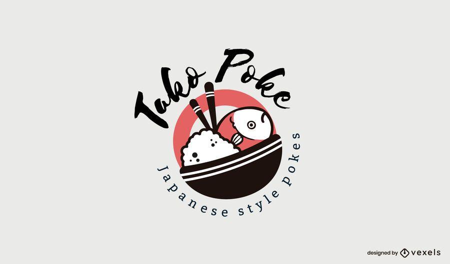 Poke Restaurant Logo Vorlage