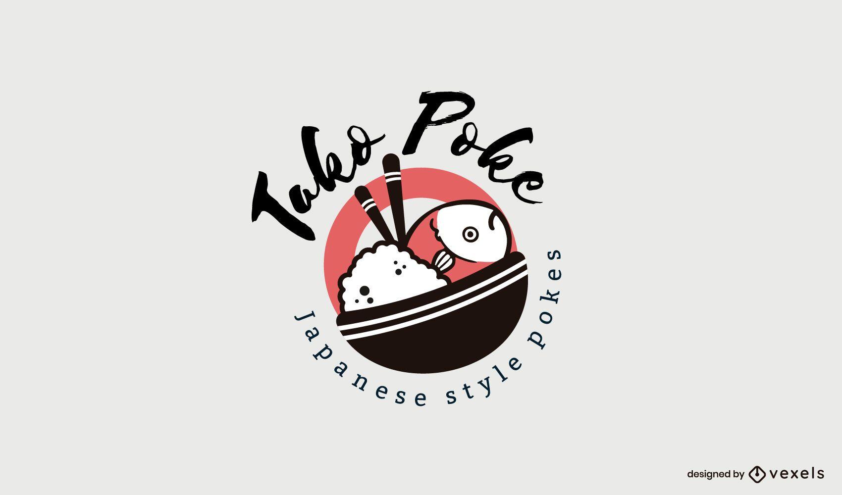 Poke Restaurant Logo Template