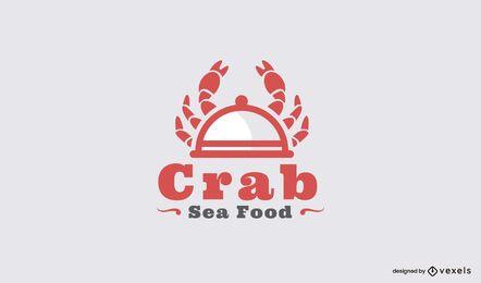 Modelo de logotipo de restaurante de comida de mar de caranguejo