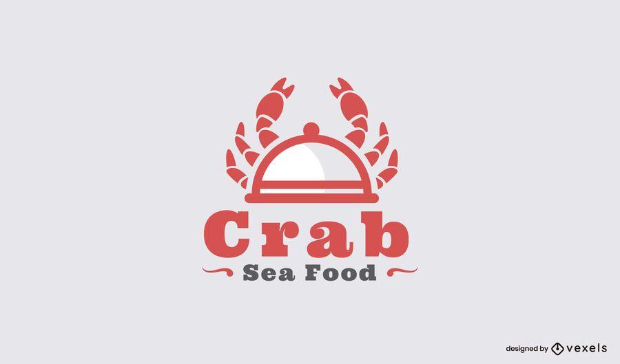 Plantilla de logotipo de restaurante de comida de mar de cangrejo
