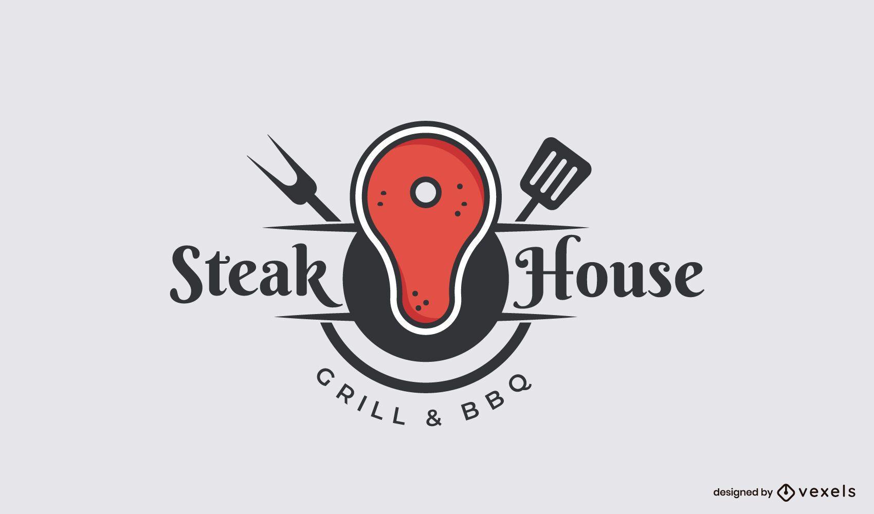 Plantilla de logotipo de Steak House