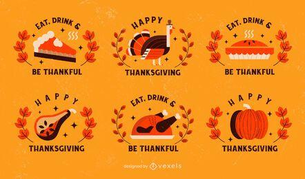 Paquete de insignias de Acción de Gracias