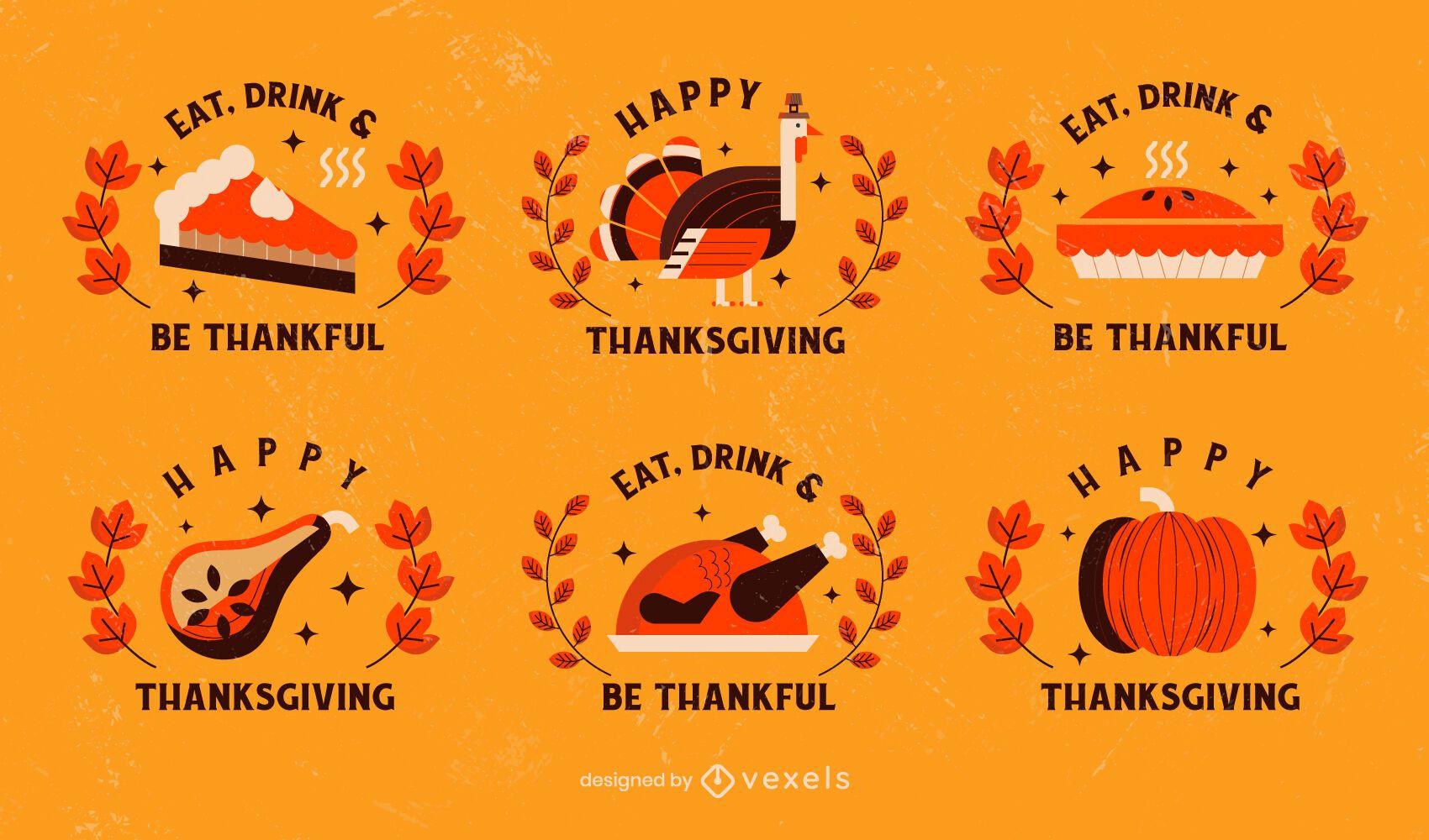 Thanksgiving badge pack