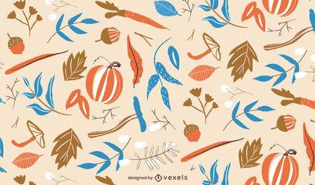 Diseño de patrón de naturaleza otoñal