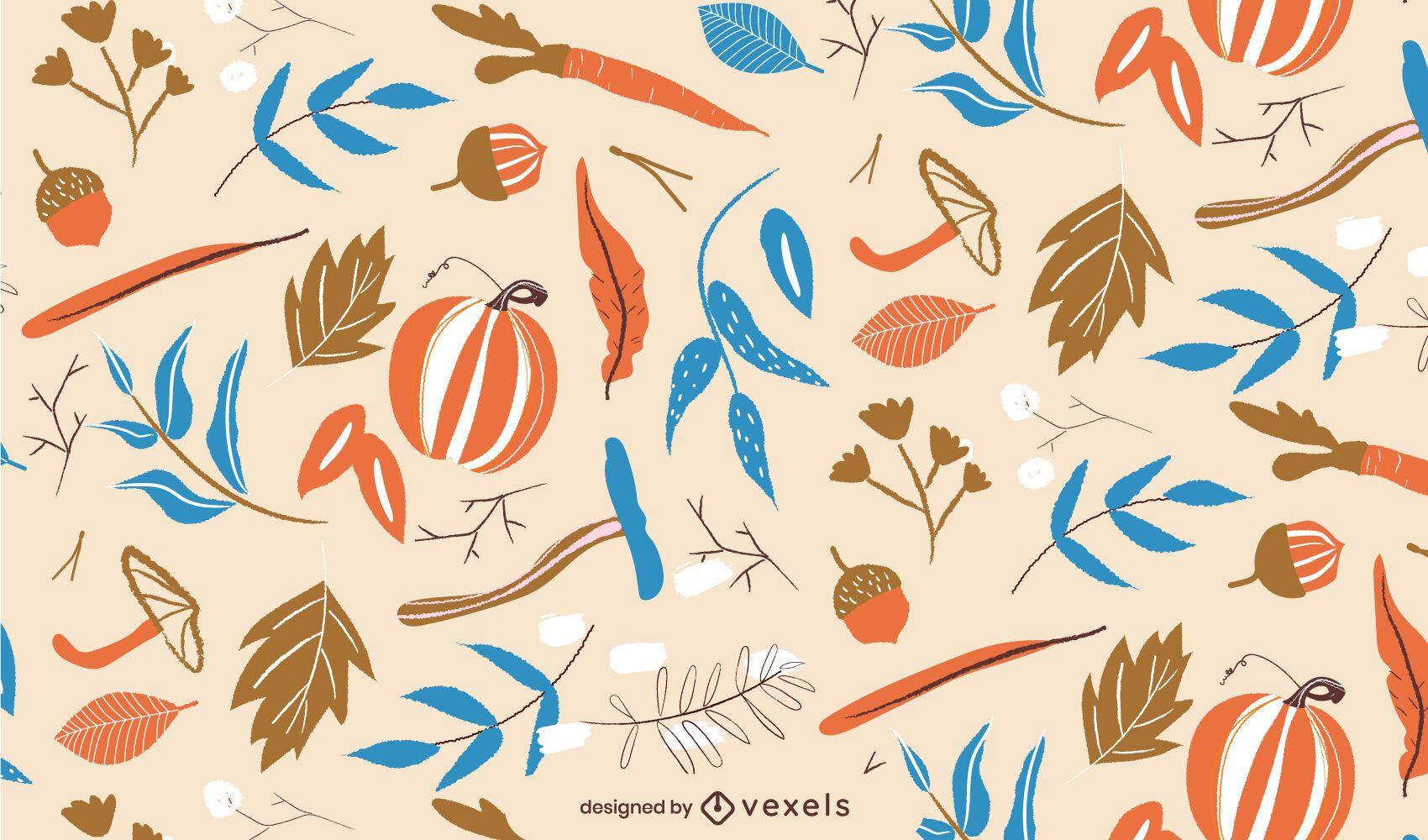 Autumn nature pattern design