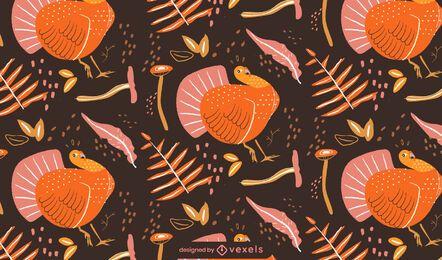 Diseño de patrón de pavo de acción de gracias
