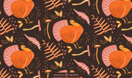 Thanksgiving turkey pattern design