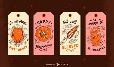 Thanksgiving tags set