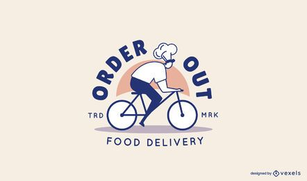 Modelo de logotipo de entrega de ordem