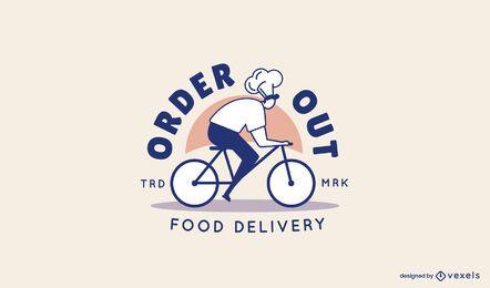 Order Out Delivery Logo Vorlage