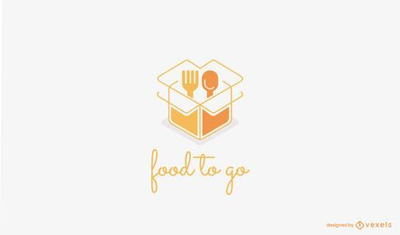 Food To Go Logo Vorlage