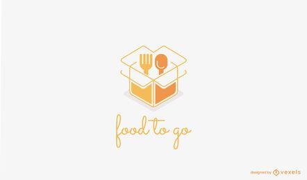 Plantilla de logotipo de comida para llevar