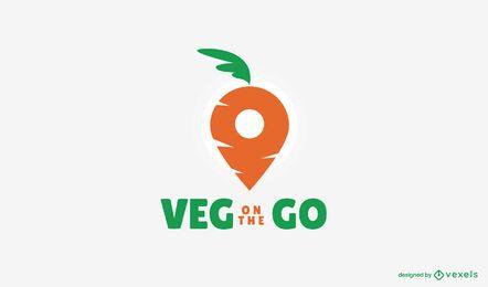 Modelo de logotipo de entrega vegetariana