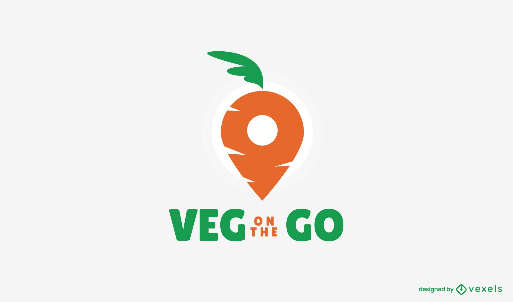 Veggie Delivery Logo Vorlage