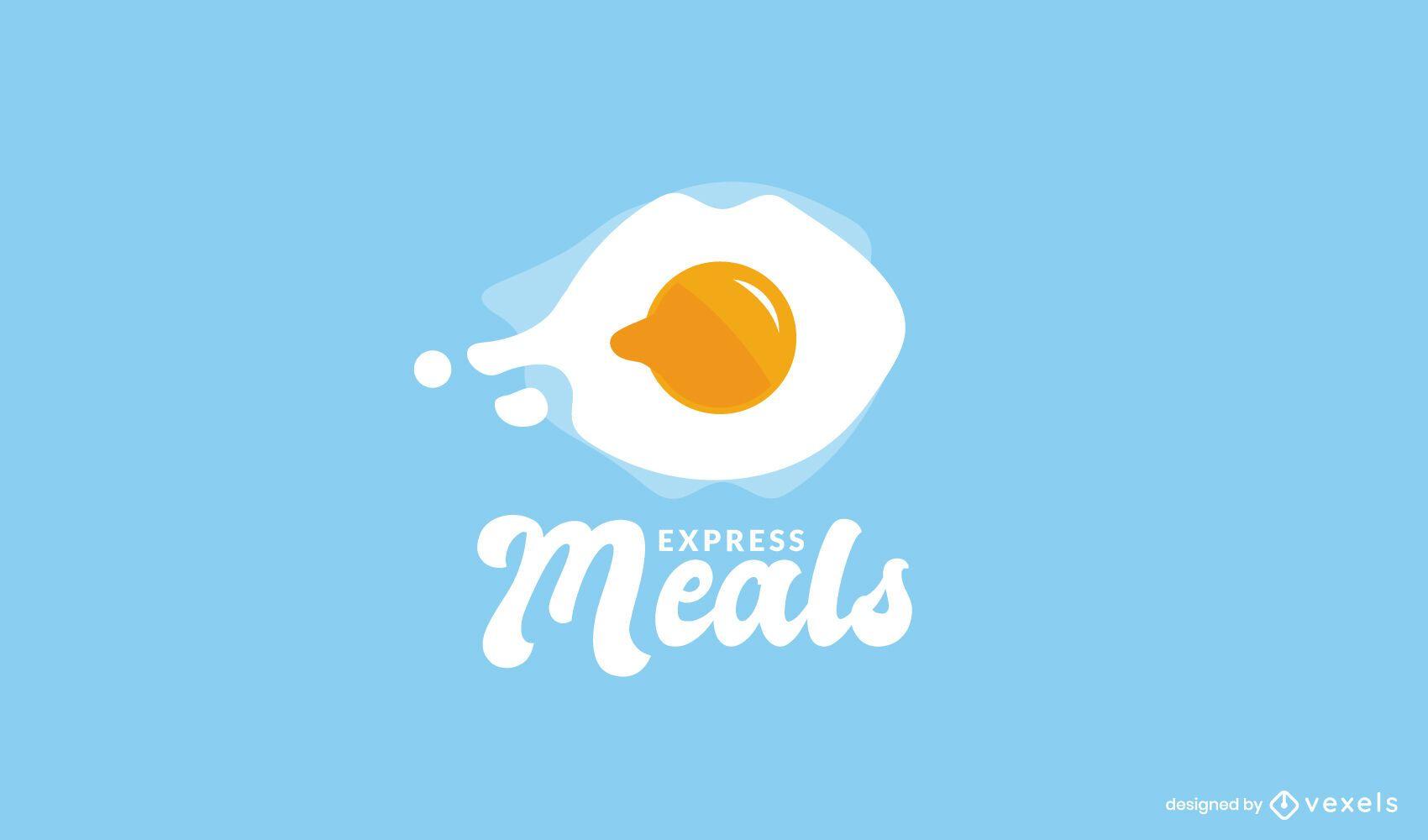 Modelo de logotipo de entrega de refeição