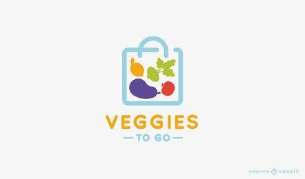 Gemüse zu gehen Logo-Vorlage