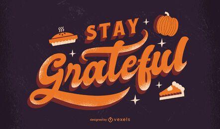 Manténgase agradecido letras de acción de gracias
