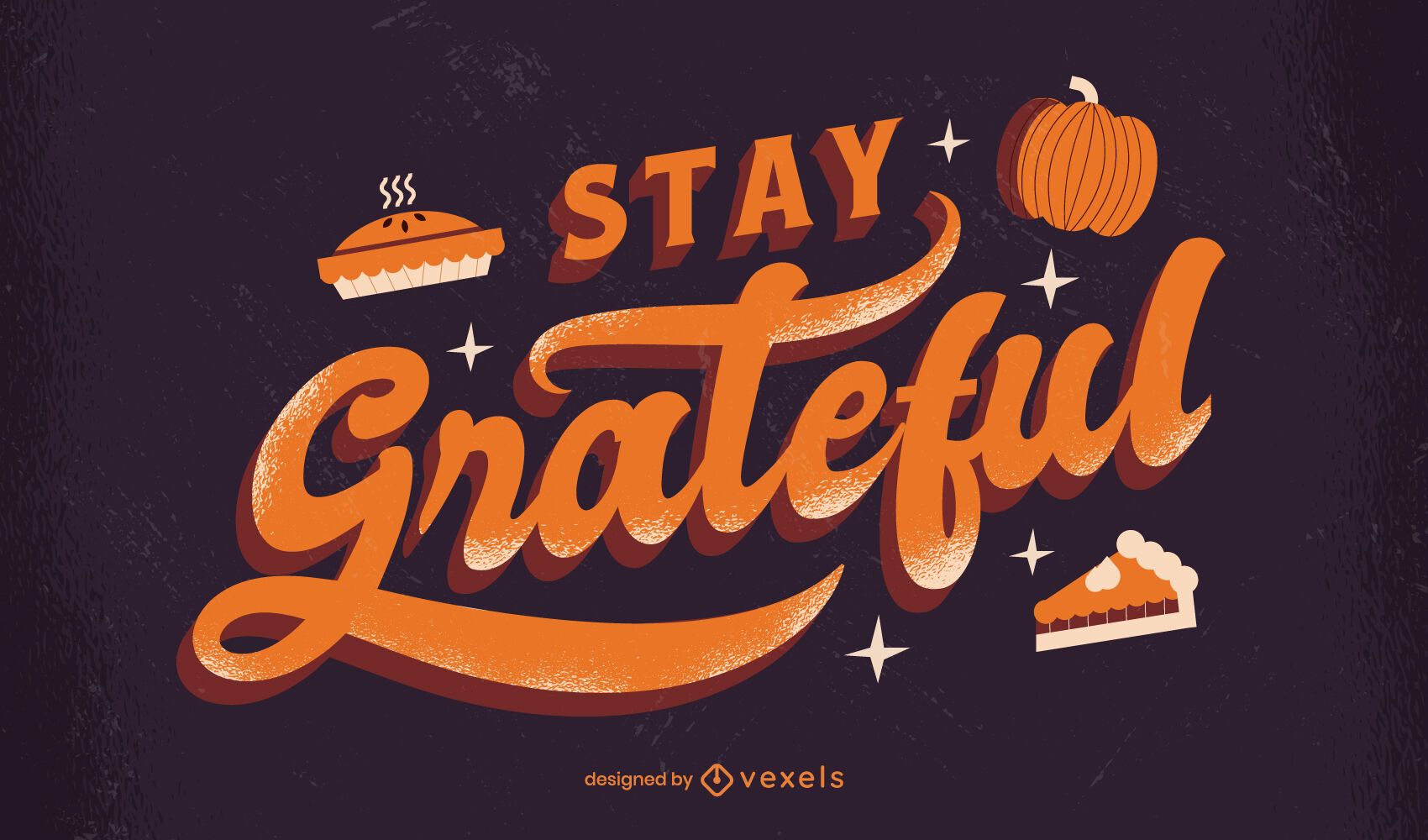 Stay grateful thanksgiving lettering