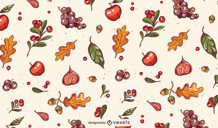 Design de padrão de ação de graças de outono