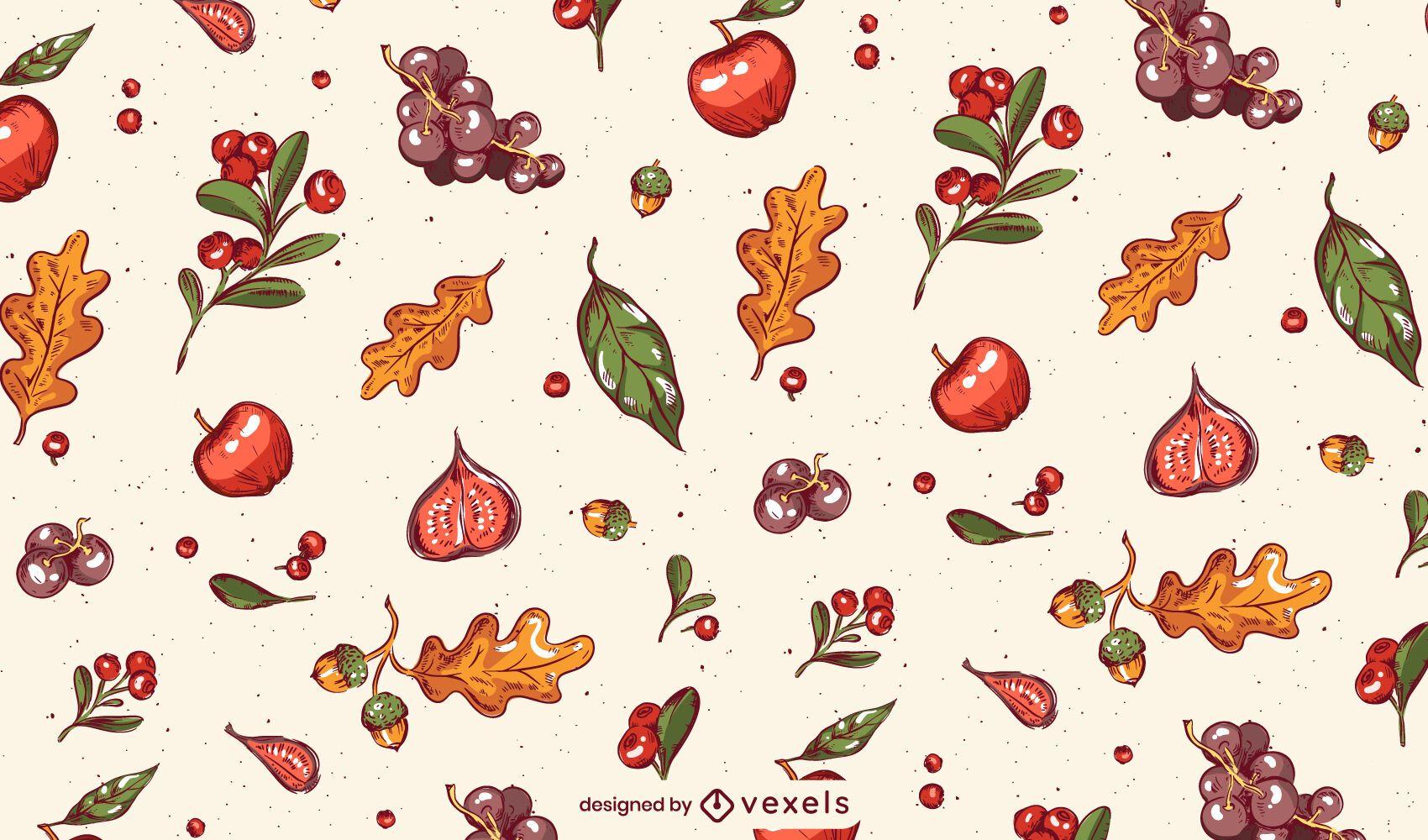 Fall Thanksgiving Pattern Design