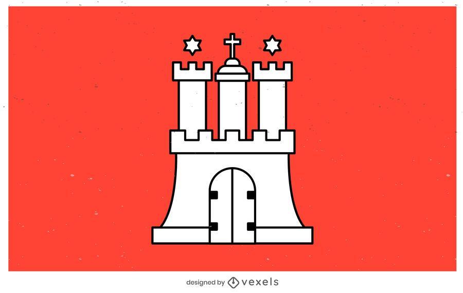 Hamburg state flag design