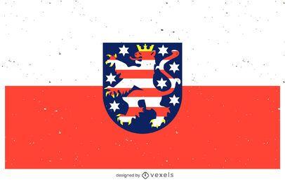 Desenho da bandeira civil de Hessen