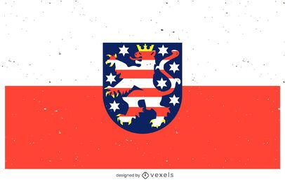 Diseño de la bandera civil de Hessen