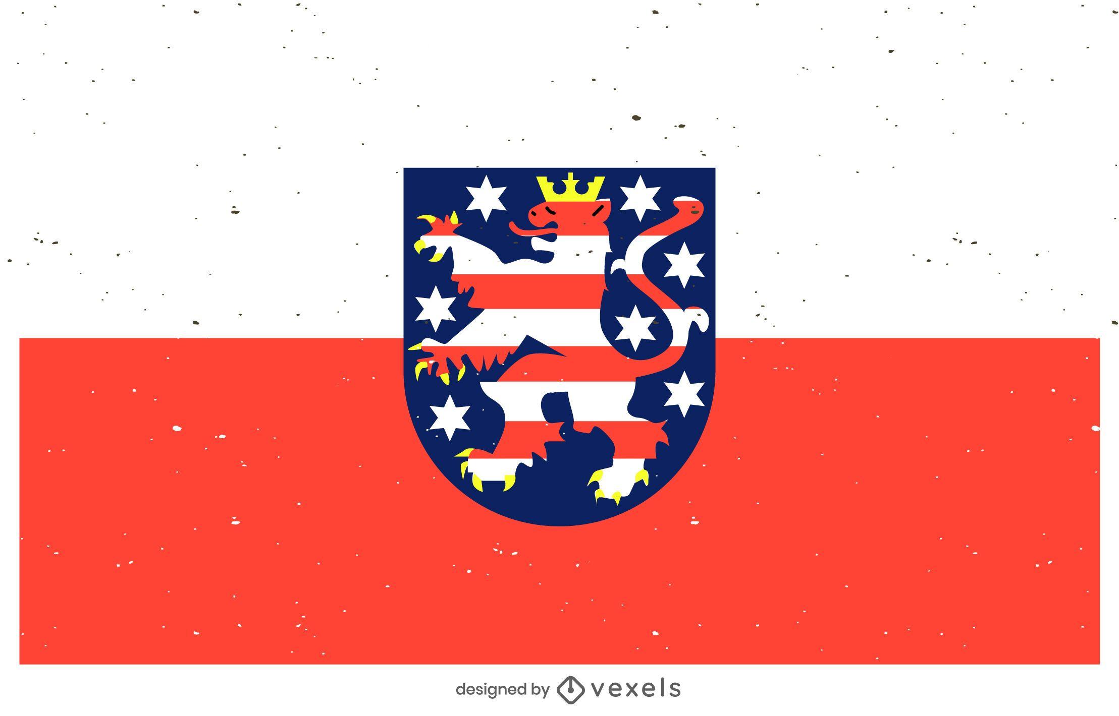 Hessen civil flag design
