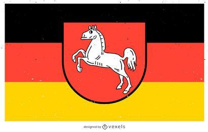 Diseño de la bandera del estado de Niedersachsen