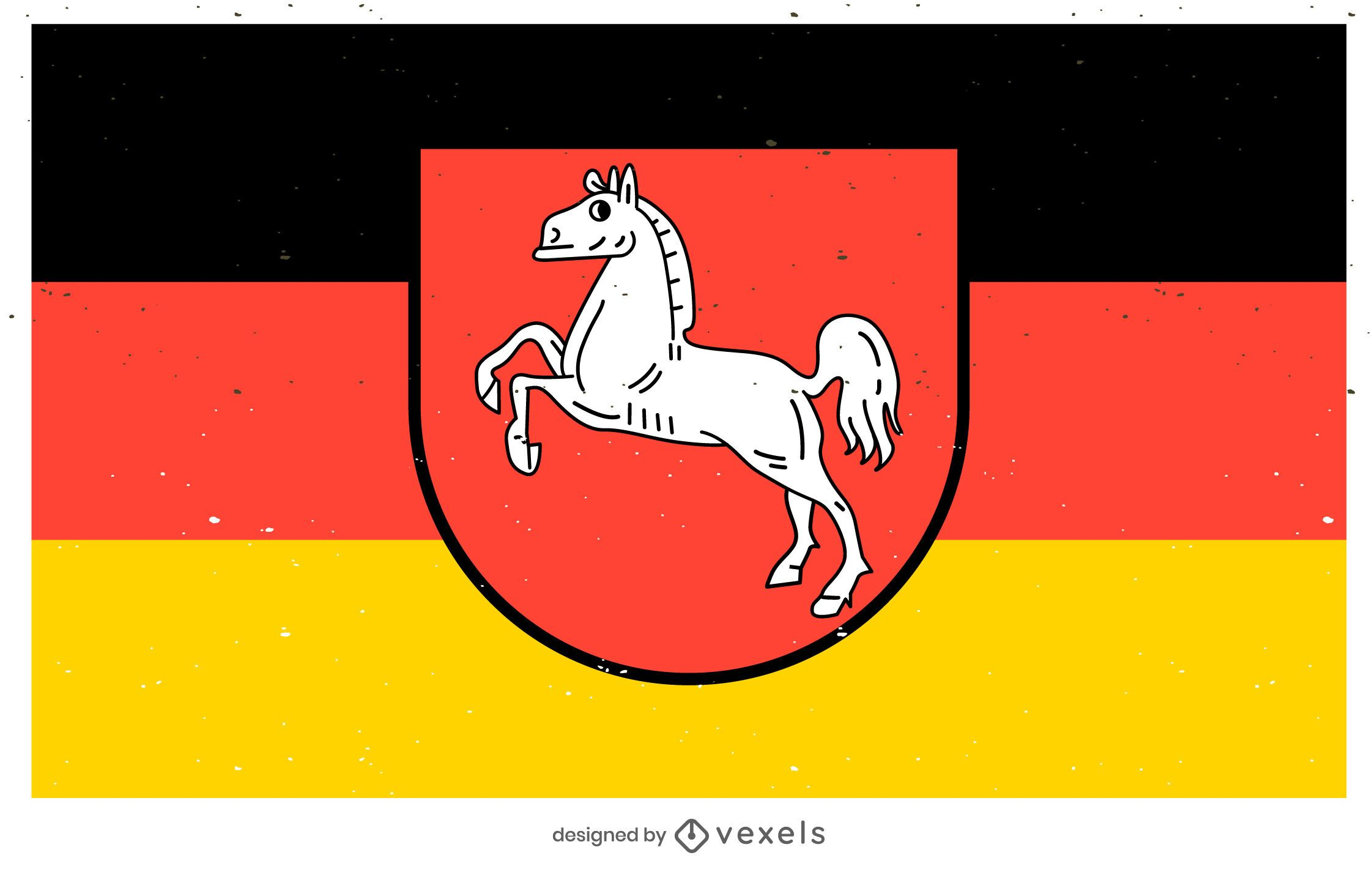Desenho da bandeira do estado de Niedersachsen