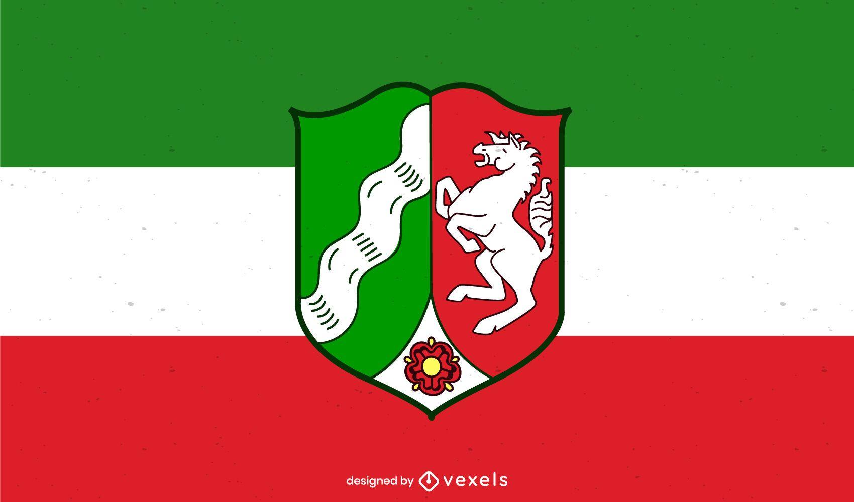 Diseño de la bandera del estado de Nordrhein-Westfalen