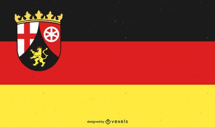 Design der Staatsflagge Rheinland-Pfalz