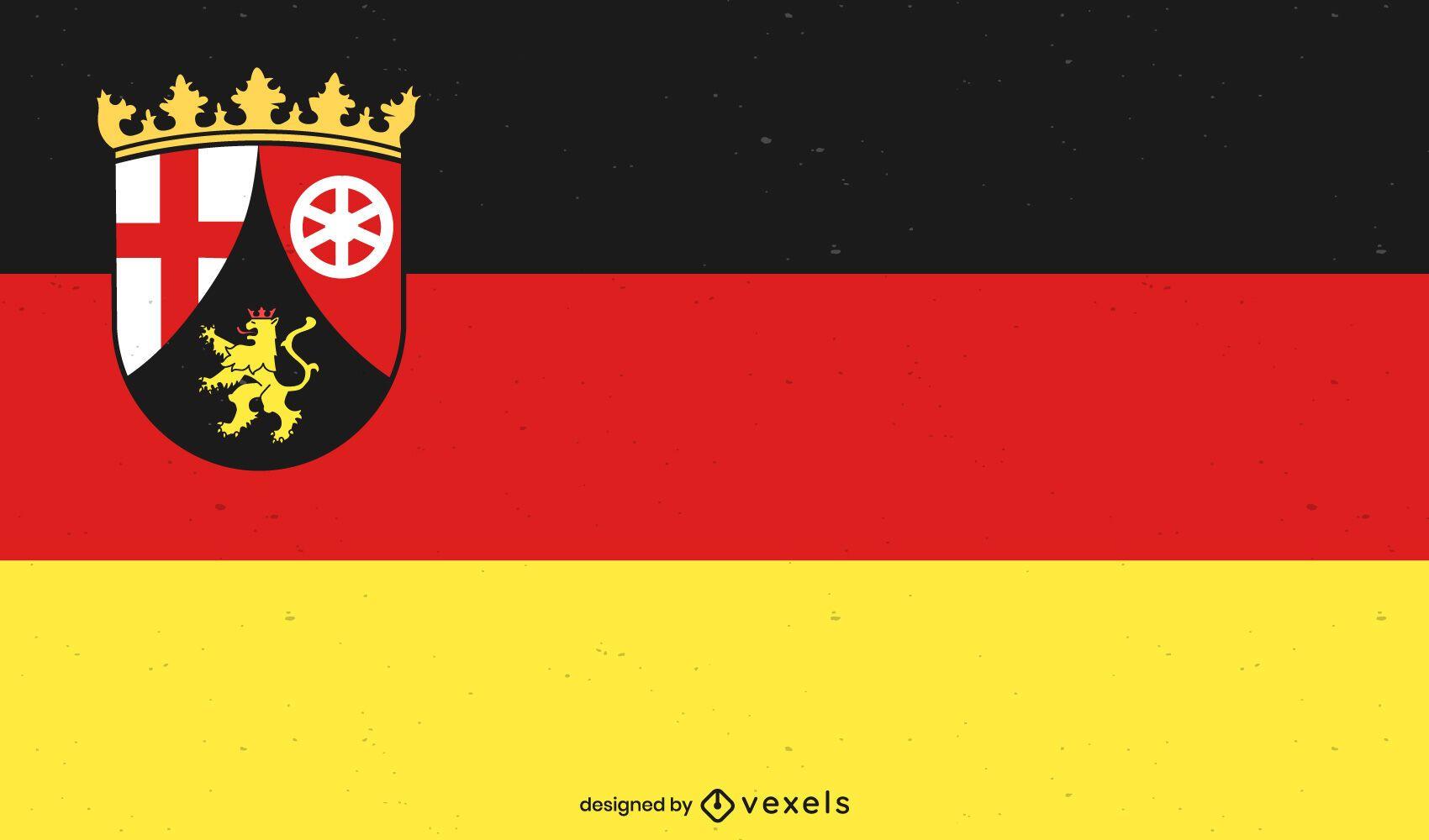 Desenho da bandeira do estado de Rheinland-Pfalz