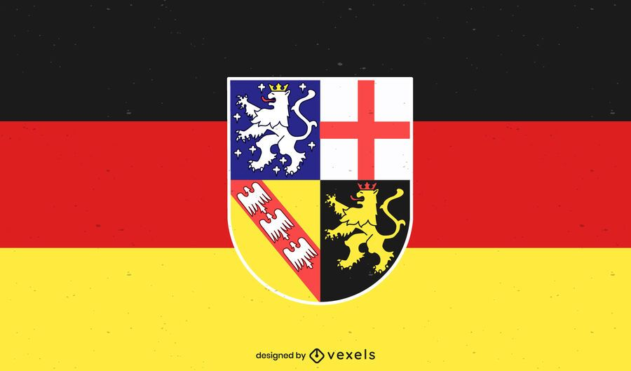 Saarland state flag design