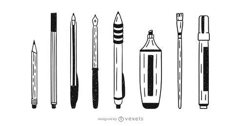 Suministros de escritura doodle set