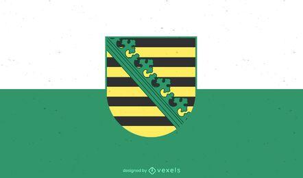 Diseño de la bandera del estado de Sachsen