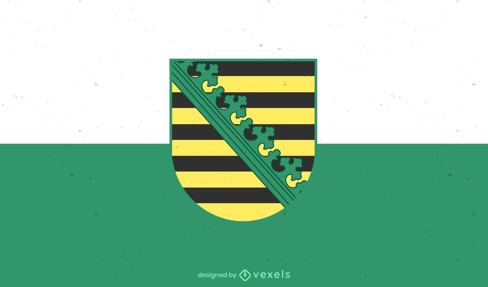 Desenho da bandeira do estado de Sachsen