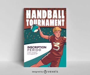 Handball tournament poster design