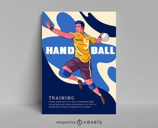 Design de cartaz de treinamento de handebol
